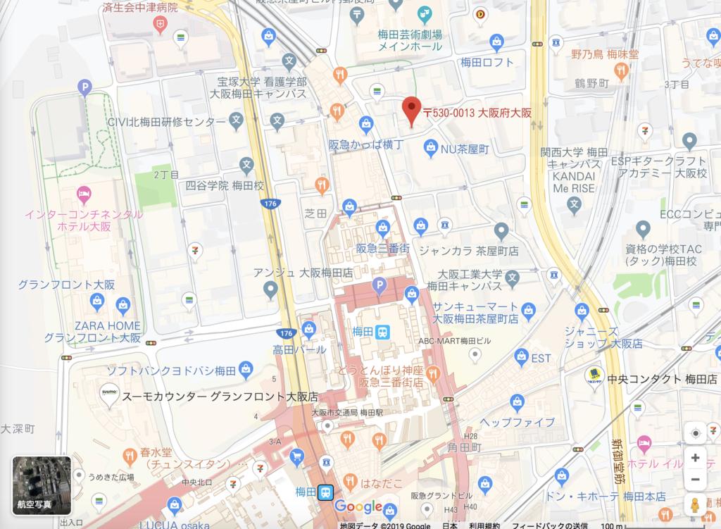 大阪 生タピオカ専門店モッチャムの場所3