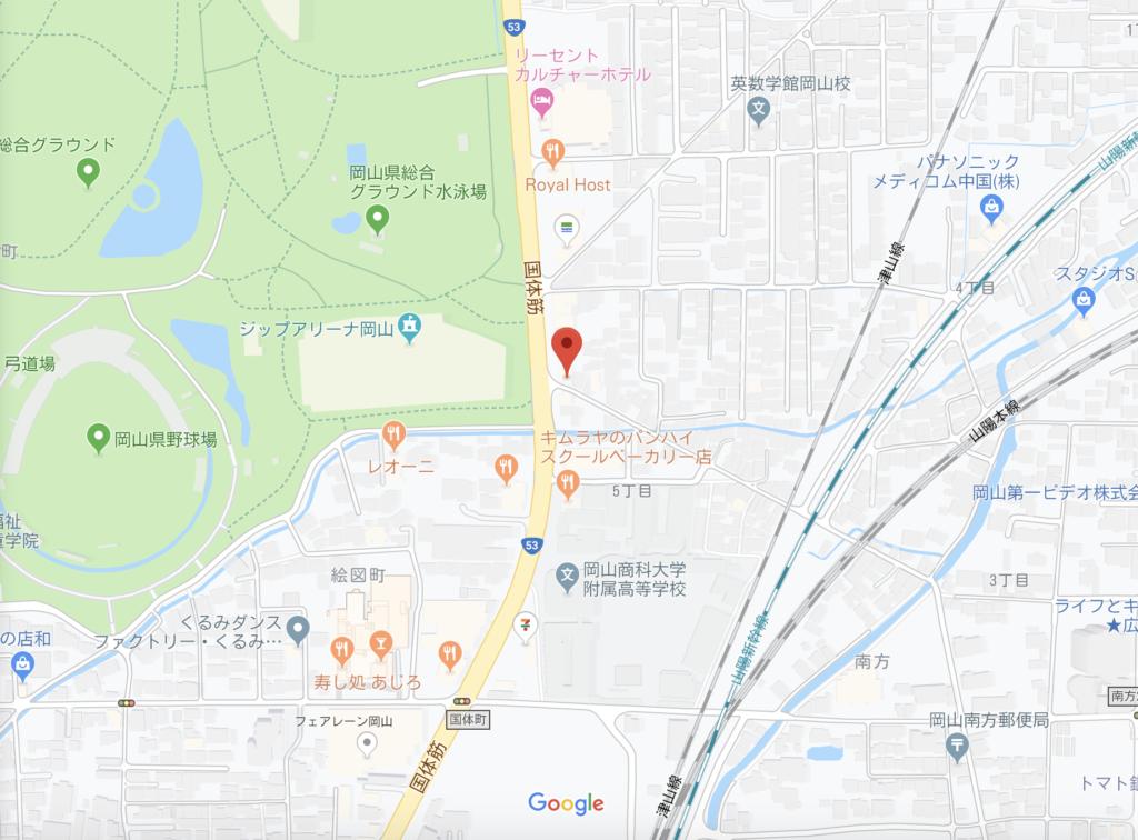 岡山タピオカラボの場所