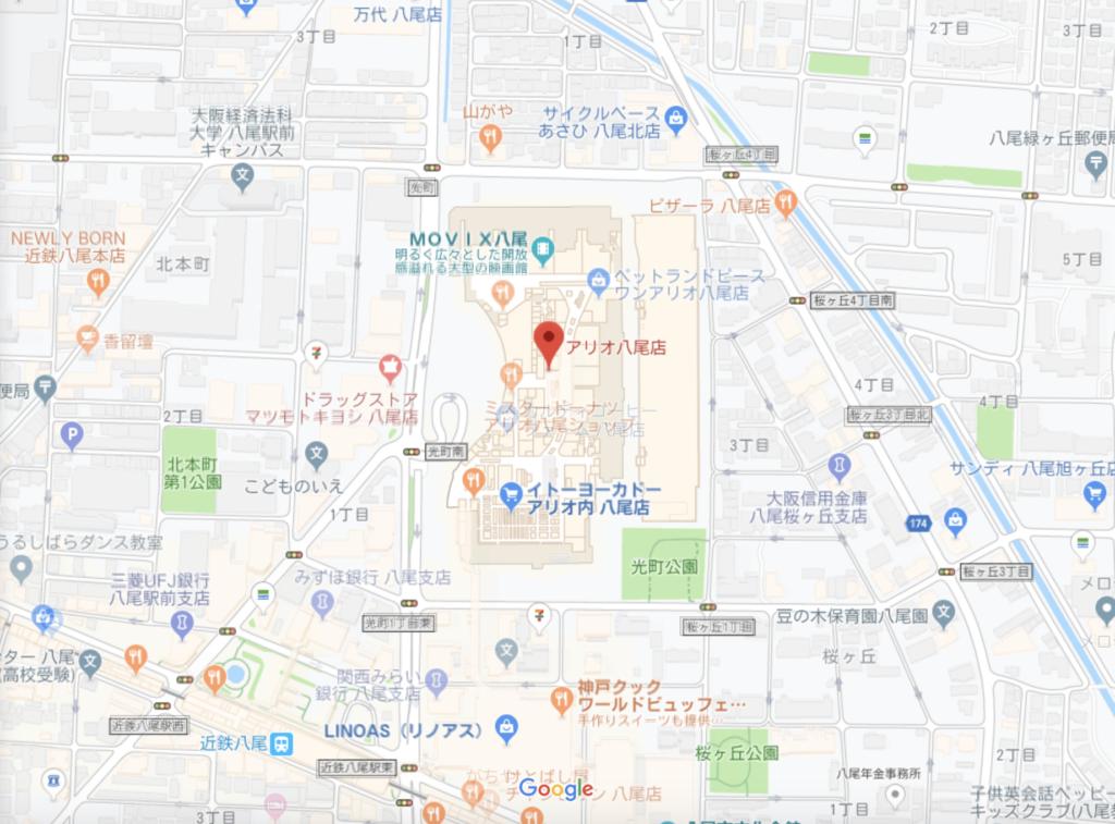 岡山 生タピオカのお店ブルプルの場所