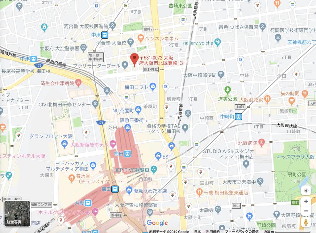 生タピオカ店「タピオカヒーロー」の場所2