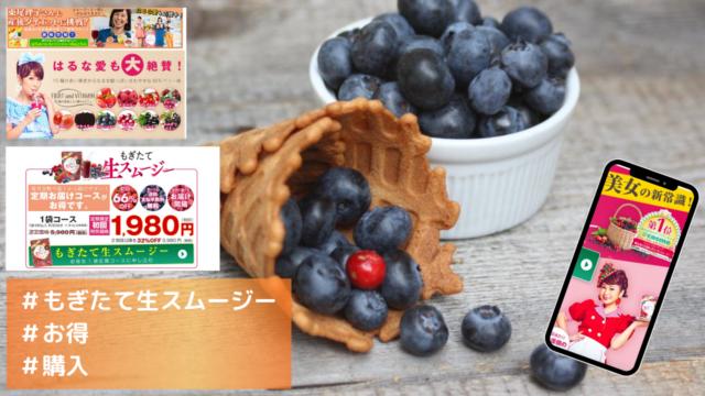 もぎたて生スムージーは初回限定1900円代でお得に買えます!必読