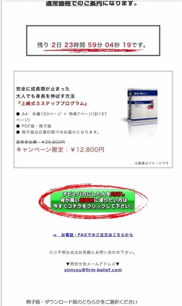 上嶋式3ステッププログラムの買い方3